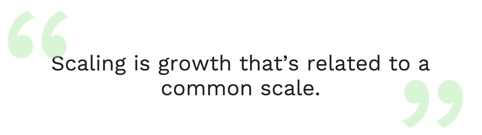 Scale-growth